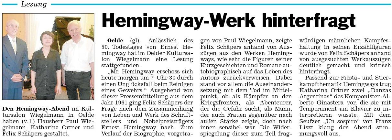 27 Presse Hemingway