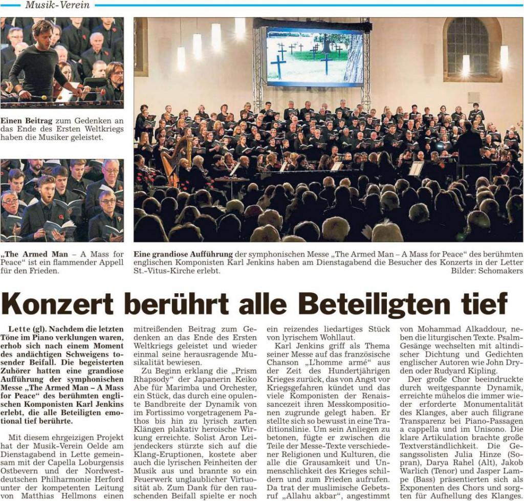 Die Glocke Konzert Lette 27.11.2018