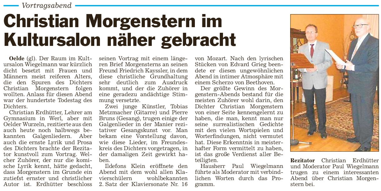 Presse Morgenstern 28.3.2014