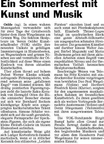 Presseartikle 27.06.2010