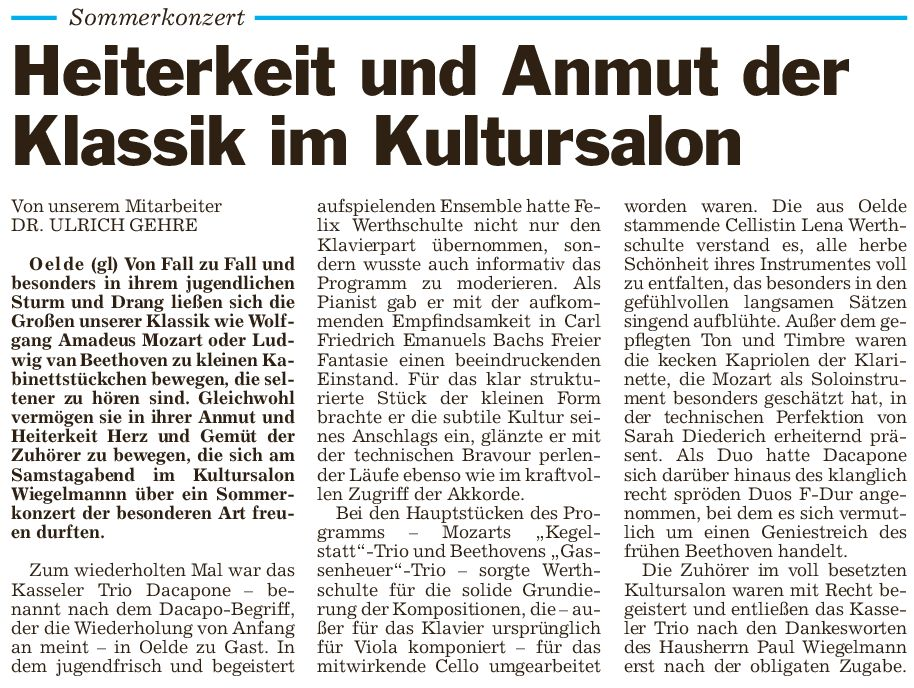 Pressebericht 05.07.2014 Lena
