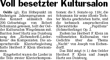 Pressebericht 07.05.2010