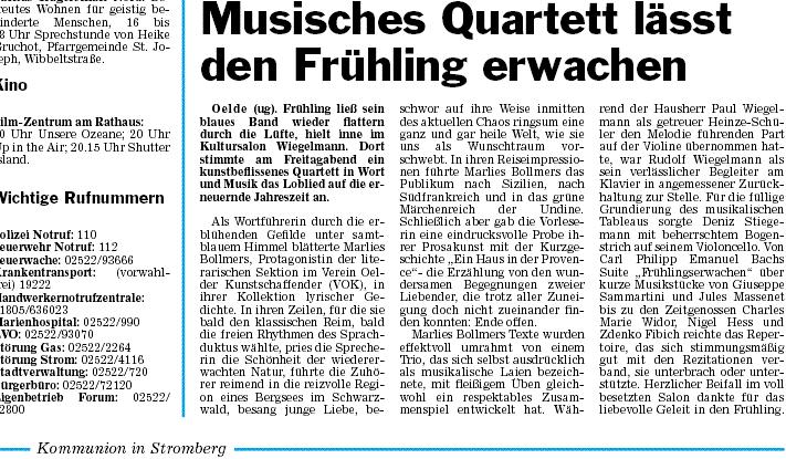 Pressebericht 09.04.2010