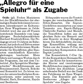 Pressebericht 12.11.09