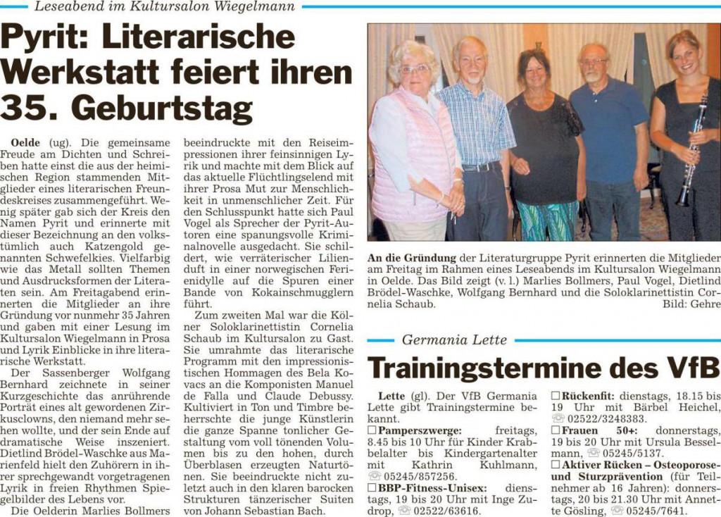 Pressebericht 15 21.08.15 Pyrit