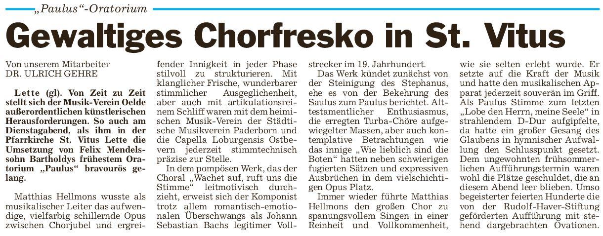 Pressebericht 17.6.2014 Paulus