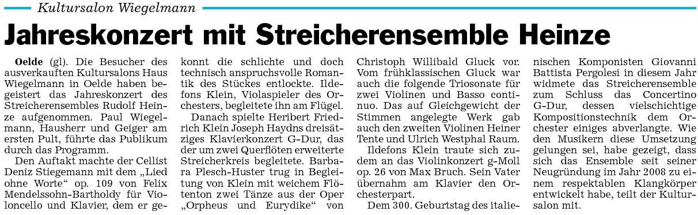 Pressebericht 21.11.2010