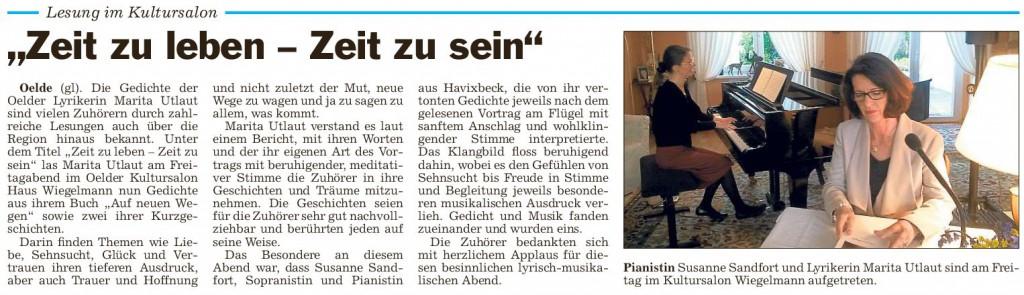 Pressebericht 24.04.2015 Marita Utlaut