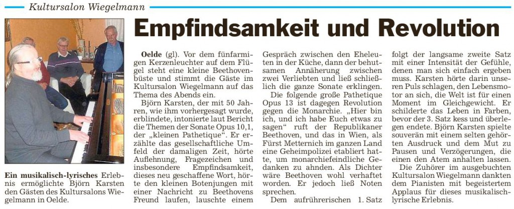 Pressebericht  28.02.2015 B.Karsten