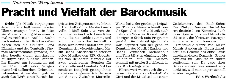 Pressebericht Lena  06.11.2011