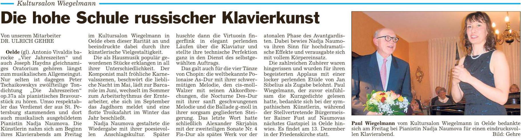 Pressebericht Nadja Naumova 16.10.2015